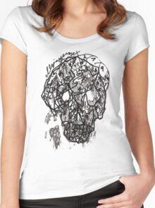 suduko cranium Women's Fitted Scoop T-Shirt