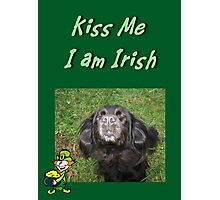 Kiss Me I am Irish Photographic Print