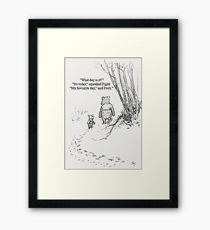 My Favourite Day Framed Print