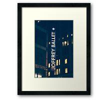 Joffrey Ballet Sign Framed Print