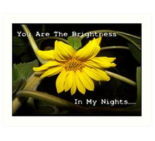 You Are The Brightness In My Nights Sunflower Art Print