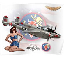 Pudgy - P-38L Lightning Poster