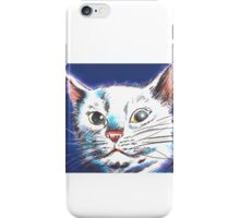Animal Prints White Cat iPhone Case/Skin