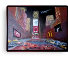 Times Square with Elvis Canvas Print