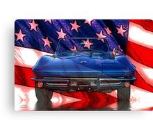 American Corvette Canvas Print