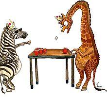 Party Animals Series: Zebra vs. Giraffe by Lexi Hannah