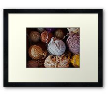 Knit Song Framed Print
