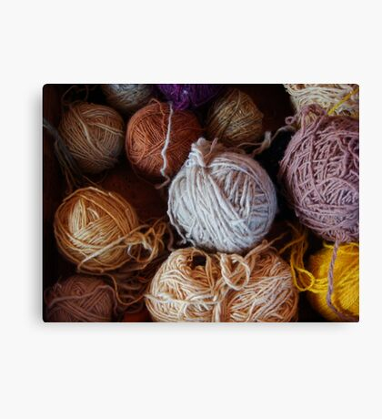 Knit Song Canvas Print