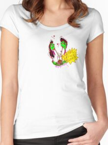 'Zombie Dating Agency' Women's Fitted Scoop T-Shirt