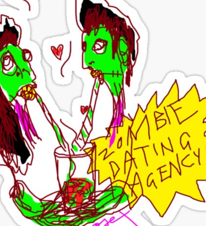 'Zombie Dating Agency' Sticker