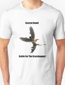 Kestrel Falcon Battle For The Grasshopper iPhone Case and Clothing Unisex T-Shirt