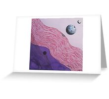 Space and Shadows Greeting Card