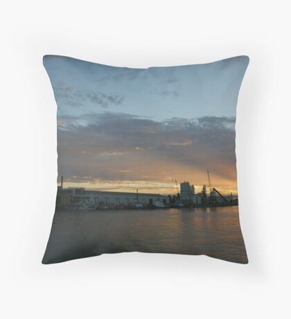 Sunset - Bridge Melbourne Throw Pillow