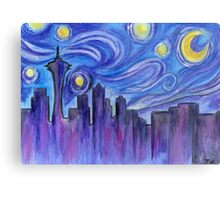 Starry Night Over Seattle Metal Print