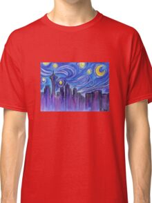 Starry Night Over Seattle Classic T-Shirt