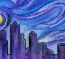 Starry Night Over Seattle Sticker