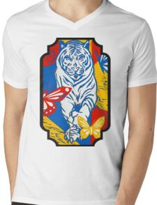 Wild Day Beauty Mens V-Neck T-Shirt