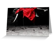 a rush of blood in me. Greeting Card