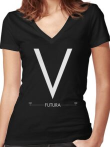 Futura V Women's Fitted V-Neck T-Shirt