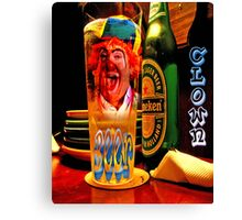 BEER CLOWN Canvas Print