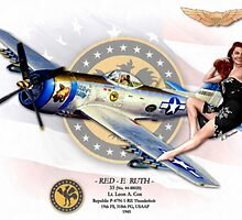 Red-E Ruth - P-47 Thunderbolt by A. Hermann