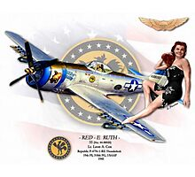 Red-E Ruth - P-47 Thunderbolt Photographic Print