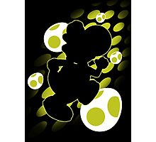 Super Smash Bros. Yellow Yoshi Silhouette Photographic Print