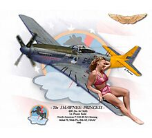 Shawnee Princess - P-51 Mustang Photographic Print