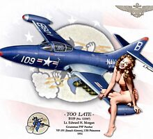 Too Late - F9F-2 Panther by A. Hermann