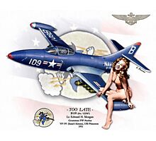 Too Late - F9F-2 Panther Photographic Print