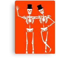 Classy Skeletons Canvas Print