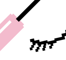 Flick Off Mascara Wand 8-Bit Sticker Sticker