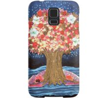 DREAMTREE WITH HYDRANGEAS AND BOUGAINVILLEAS - Collage-Design with dried Blossoms Samsung Galaxy Case/Skin