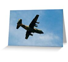 C130 Hercules Aircraft Greeting Card