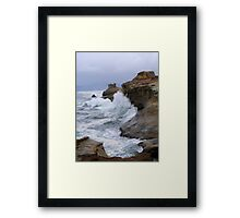 Carving the Earth Framed Print