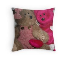 Very Berry Beary Best Friends Throw Pillow