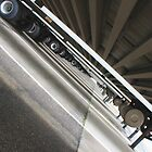 Tilted view under semi trailers by gregorydean