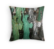 Rows and Rows of Lady Liberty Throw Pillow