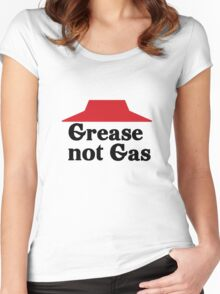 Grease not Gas Women's Fitted Scoop T-Shirt