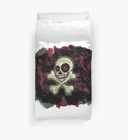 camouflage  zombie skull Duvet Cover