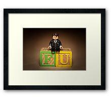 Frank Underwood on blocks Framed Print