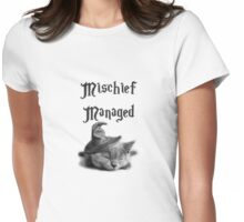 Kitten - Mischief Managed Womens Fitted T-Shirt