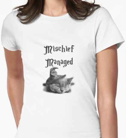 Kitten - Mischief Managed Womens Fitted T-Shirt