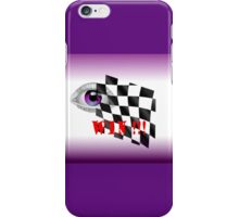 Checked Flag for a Win!!! iPhone Case/Skin