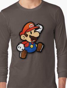 Custom Paper Mario Shirt Long Sleeve T-Shirt