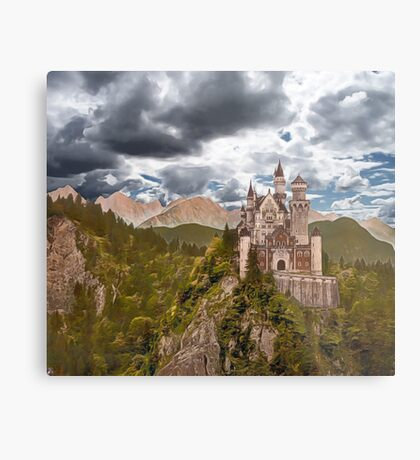 Castle Before The Storm Metal Print