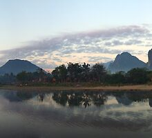 Brushing Teeth Vang Vieng, laos by tracyleephoto