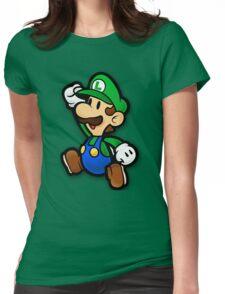 Custom Paper Mario Luigi Shirt Womens Fitted T-Shirt