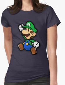 Custom Paper Mario Luigi Shirt Womens Fitted T-Shirt