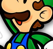 Custom Paper Mario Luigi Shirt Sticker